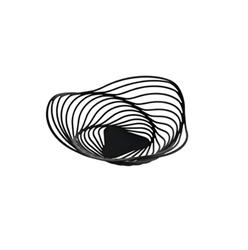 Alessi-Trinity Basket in steel colored with epoxy resin, black